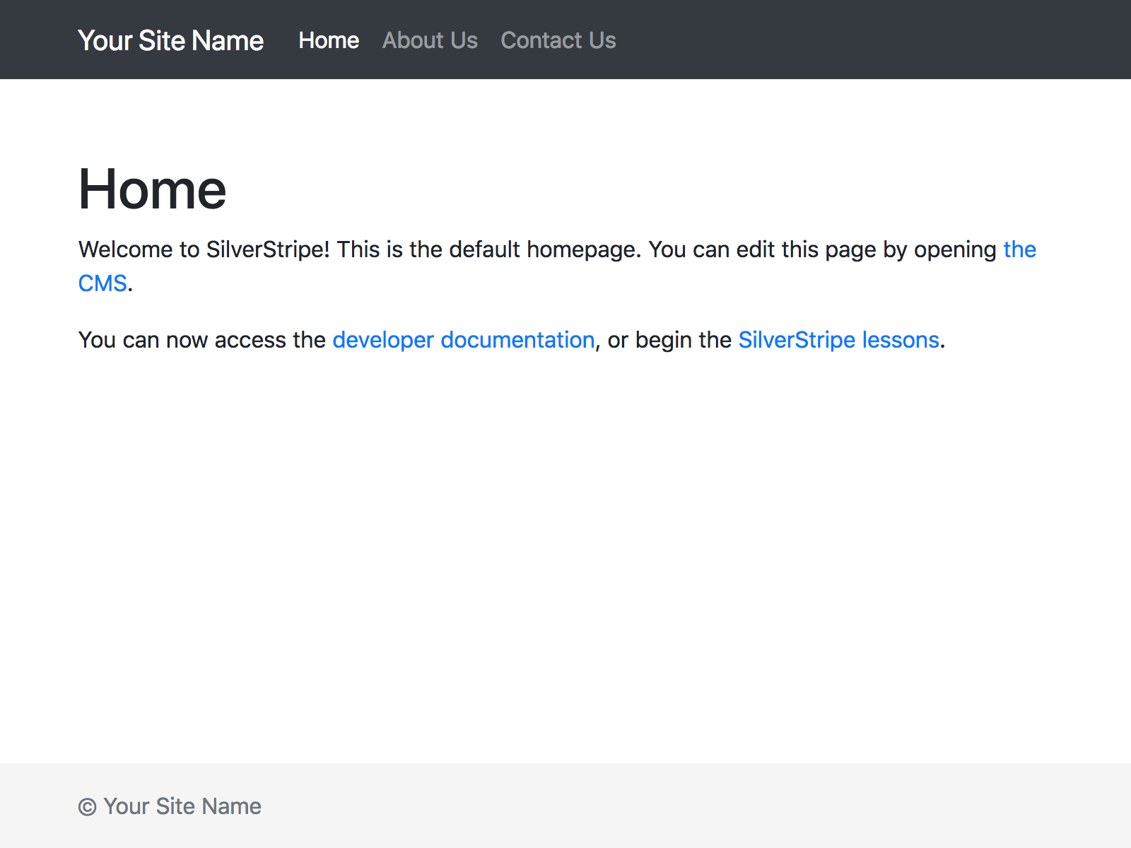 Bootstrap 4.3.1 theme for SilverStripe 4