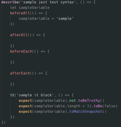 Example Test Syntax Highlighting