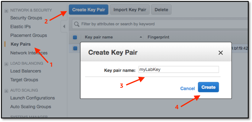 Create key pair