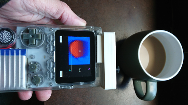 The thermal camera in action