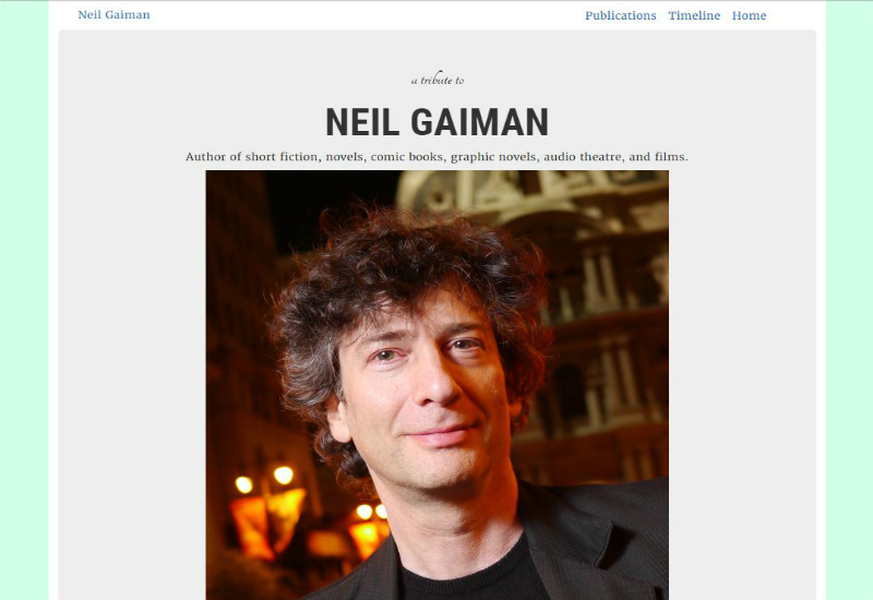 neil gaiman tribute page