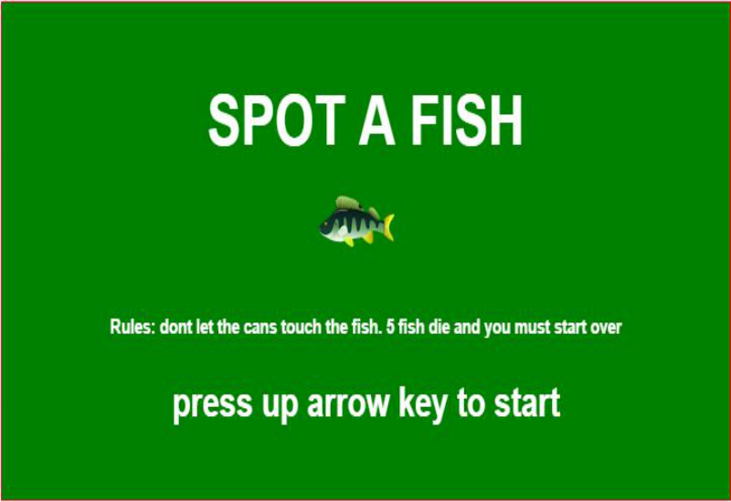 Spot-A-Fish game