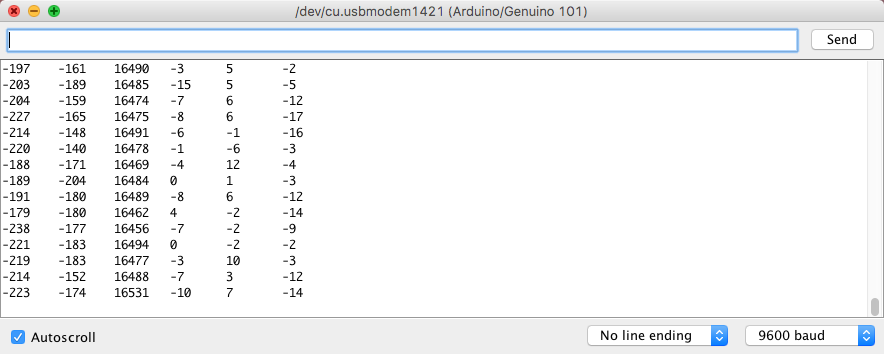 Arduino 101 Serial Monitor