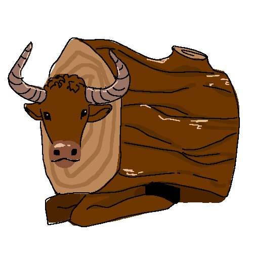 a yak who is a log
