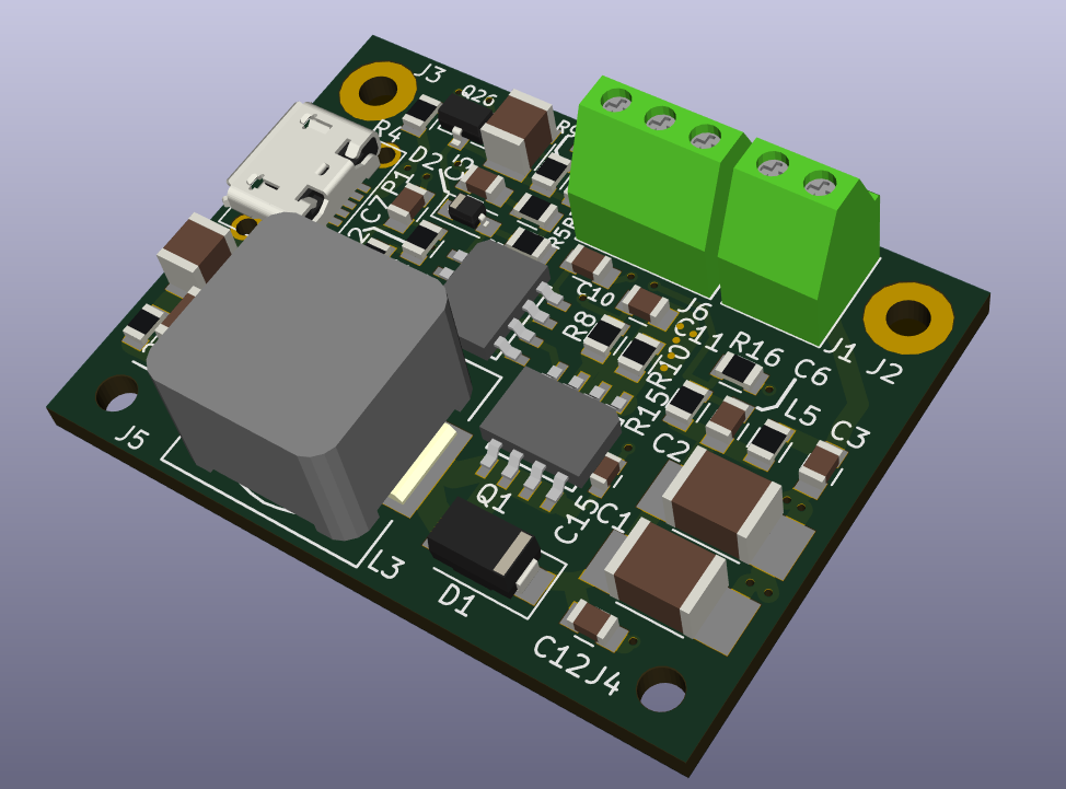 3D image of Rev 3 Mini Board