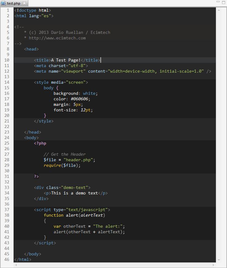 GitHub - druellan/dark-brackets-theme: Dark background