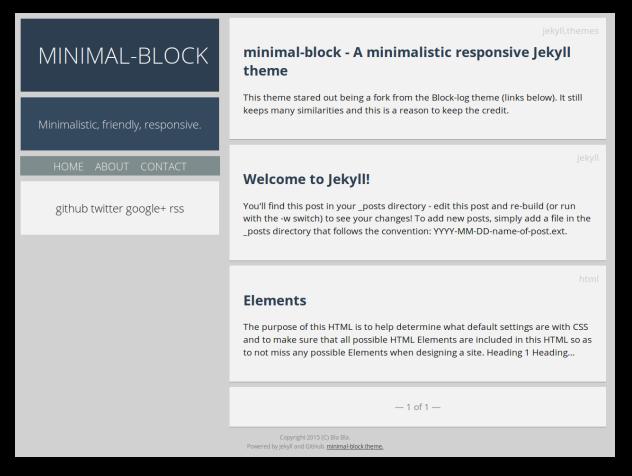 minimal-block preview