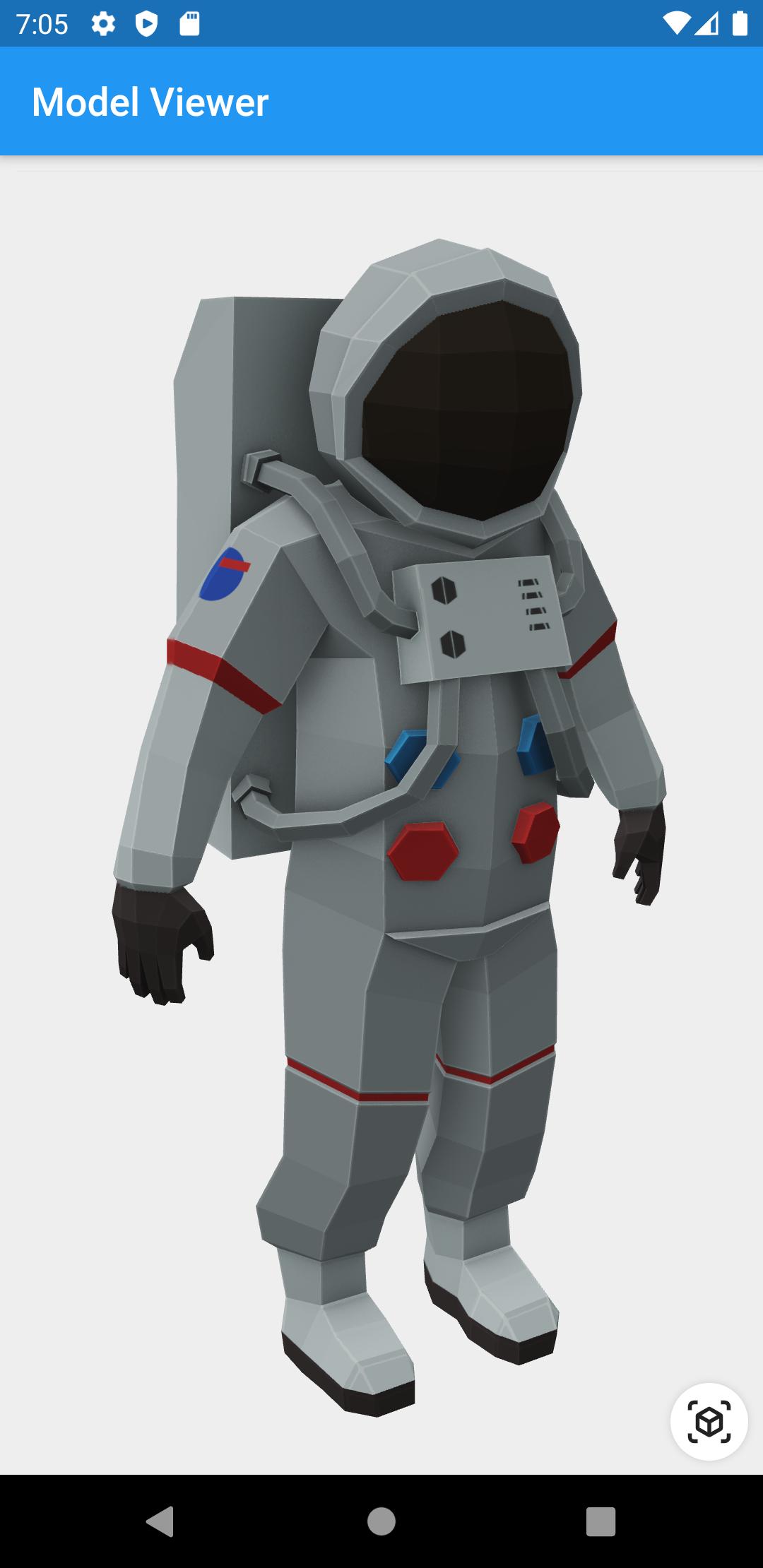 Screenshot of astronaut model