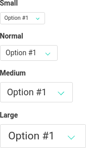 Selectbox size example