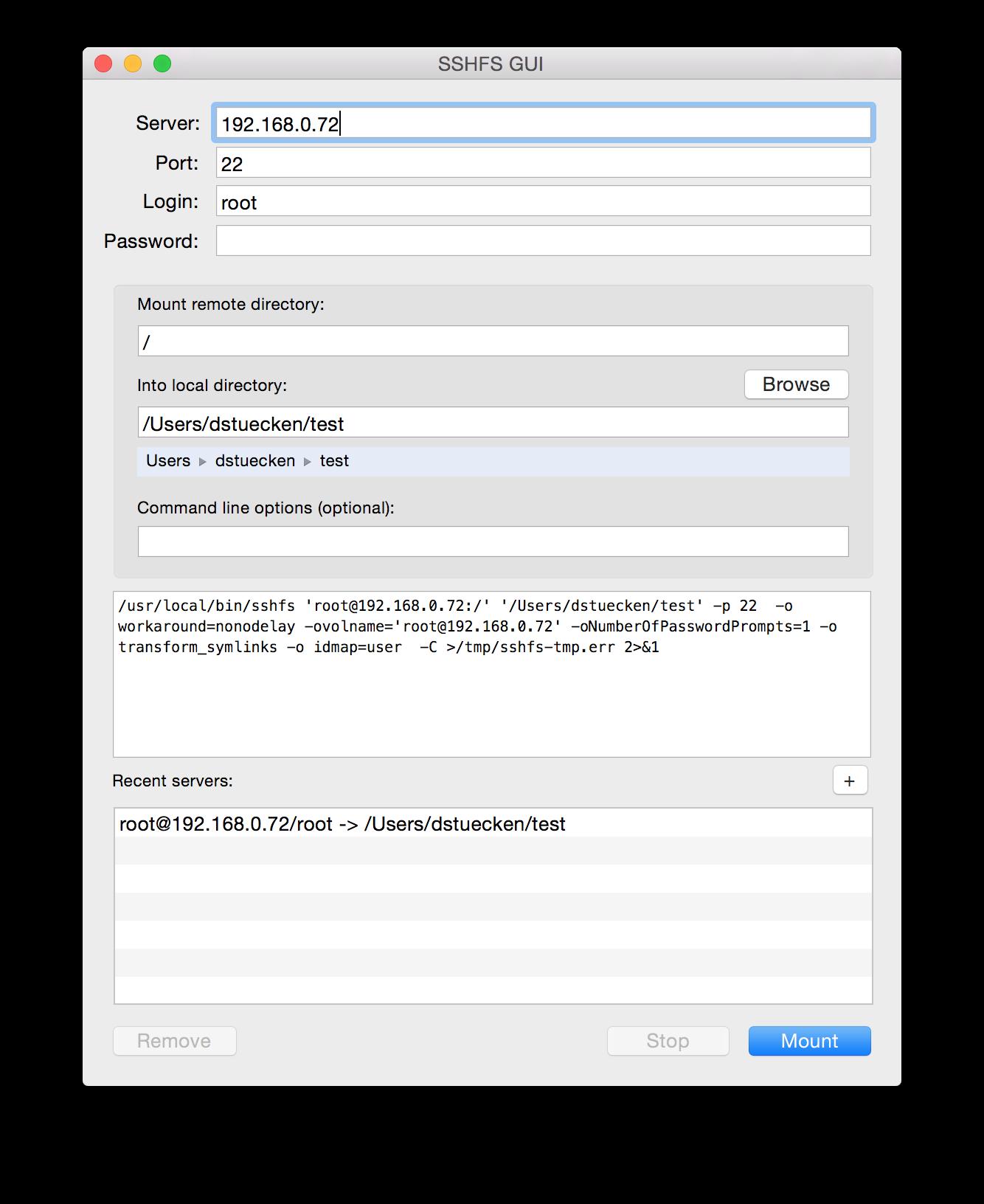 GitHub - dstuecken/sshfs-gui: SSHFS GUI Wrapper for Mac OS X