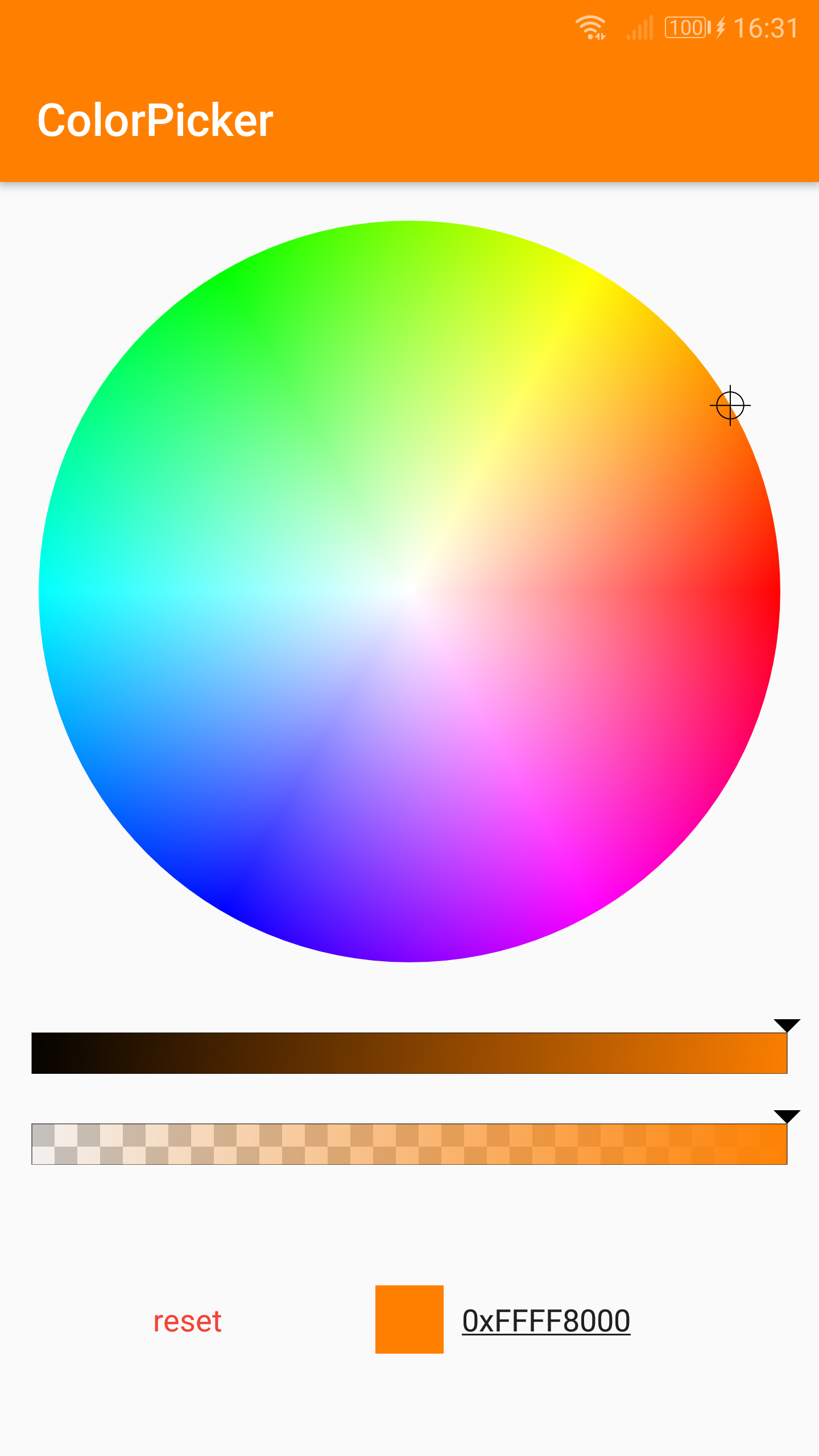 The Android Arsenal - Color Pickers - ColorPicker