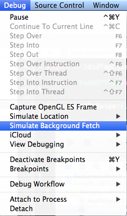 Simulating Background Fetches
