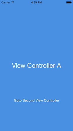 View Controller A will be presenting View Controller B which fades in with a custom view controller transition