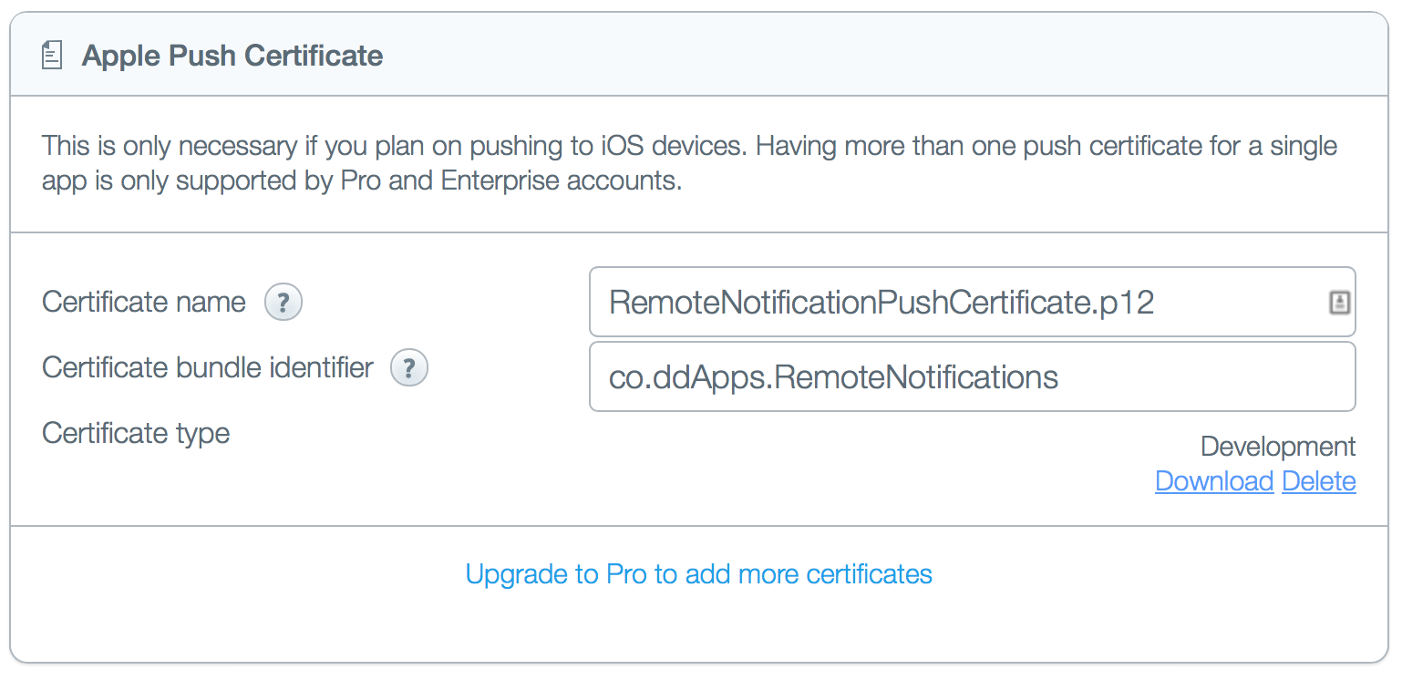 Parse Apple Push Certificate