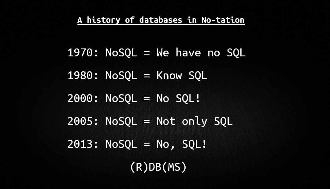 nosql-history