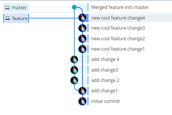 Git merge master feature