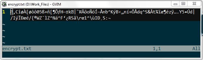 garbled data if wrong key is used
