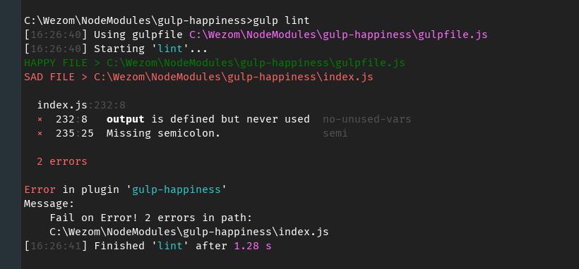 Show happy files example