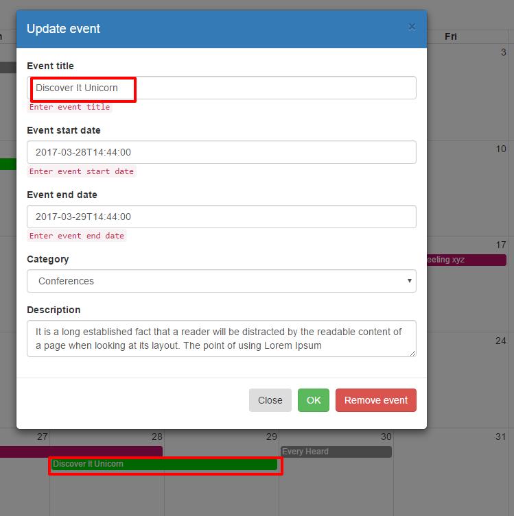 Calendar Planner Nodejs : Npm update bootstrap phpsourcecode