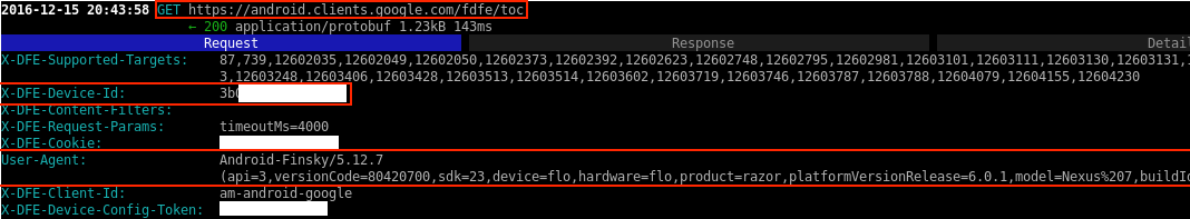 Device ID and API User-Agent