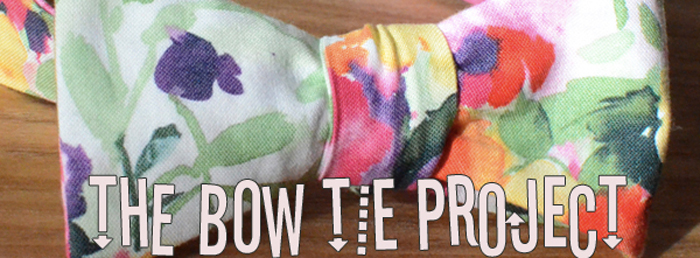 Pastel Flower Bow Tie