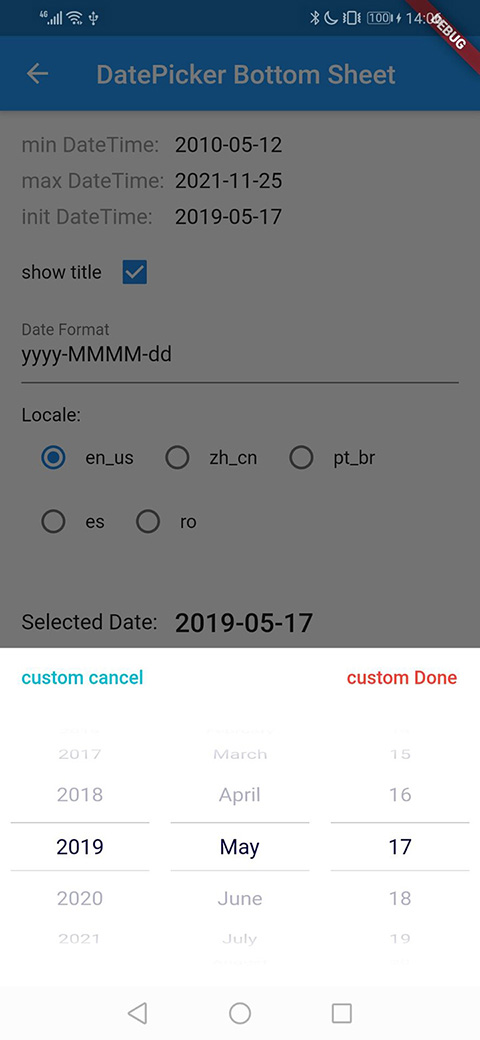 Example: DatePicker