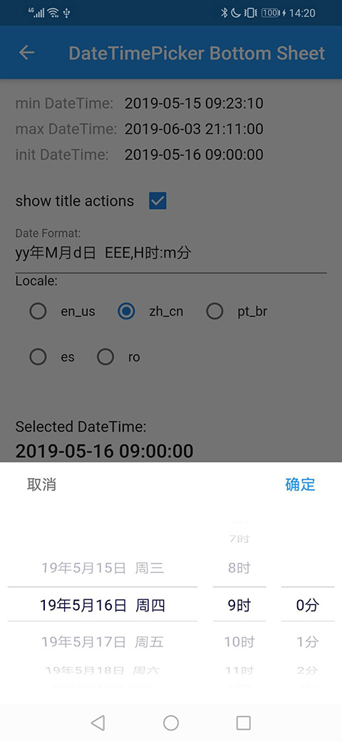 Example: DateTimePicker