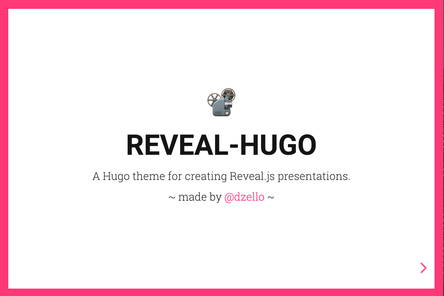 Reveal Hugo | Hugo Themes