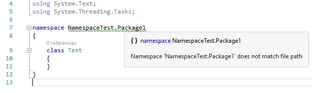 Namespace and file path analyzer