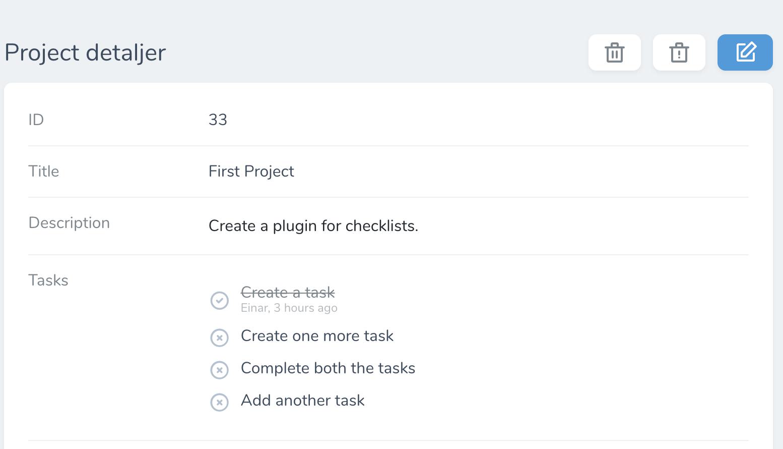Checklist-detail-page