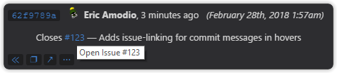Issue linking in commit messages