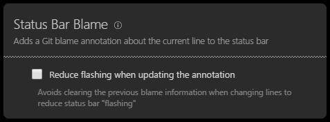 Reduce status bar flashing setting