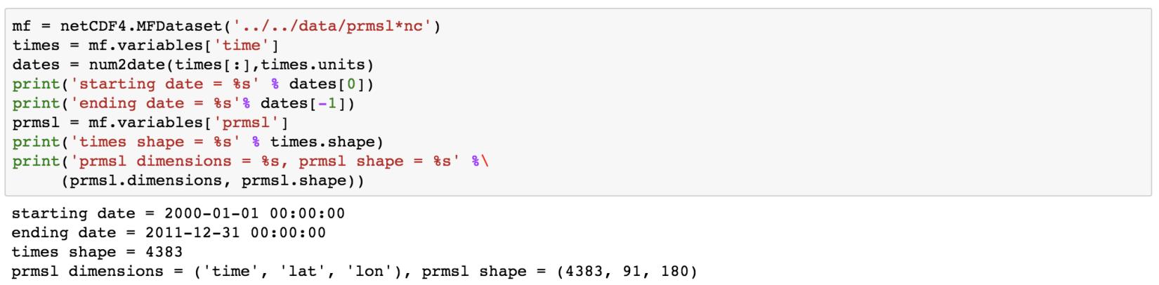 Reading netcdf4 data in python