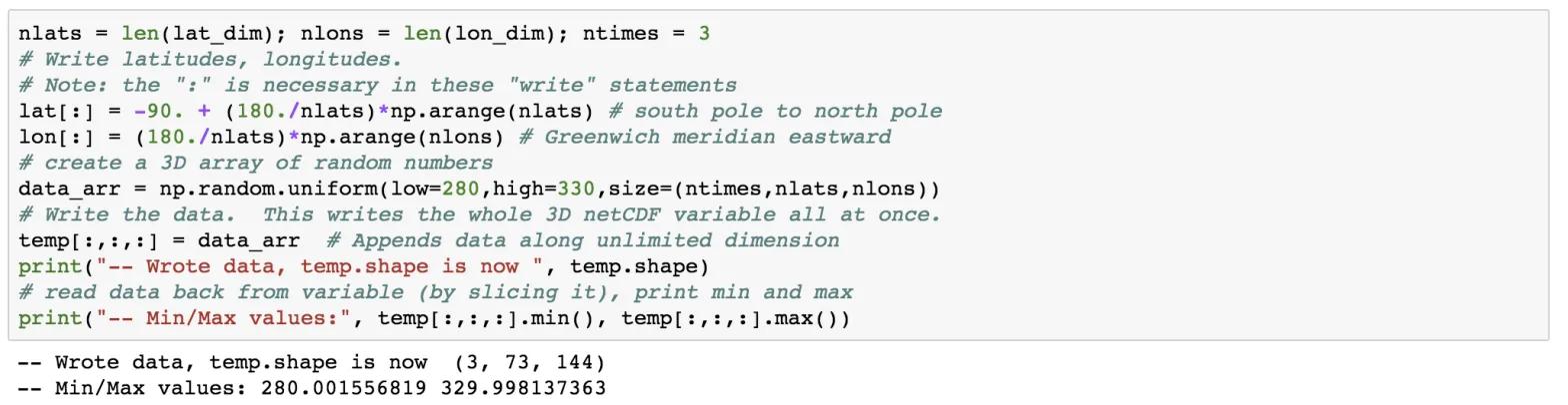 Writing netcdf4 data using python
