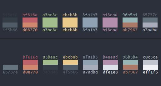 easysid/mod8 vim A dark theme only modification of base16 vim themes