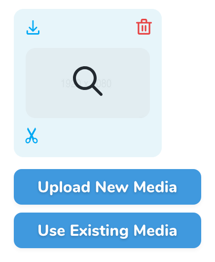 Selecting existing media 2
