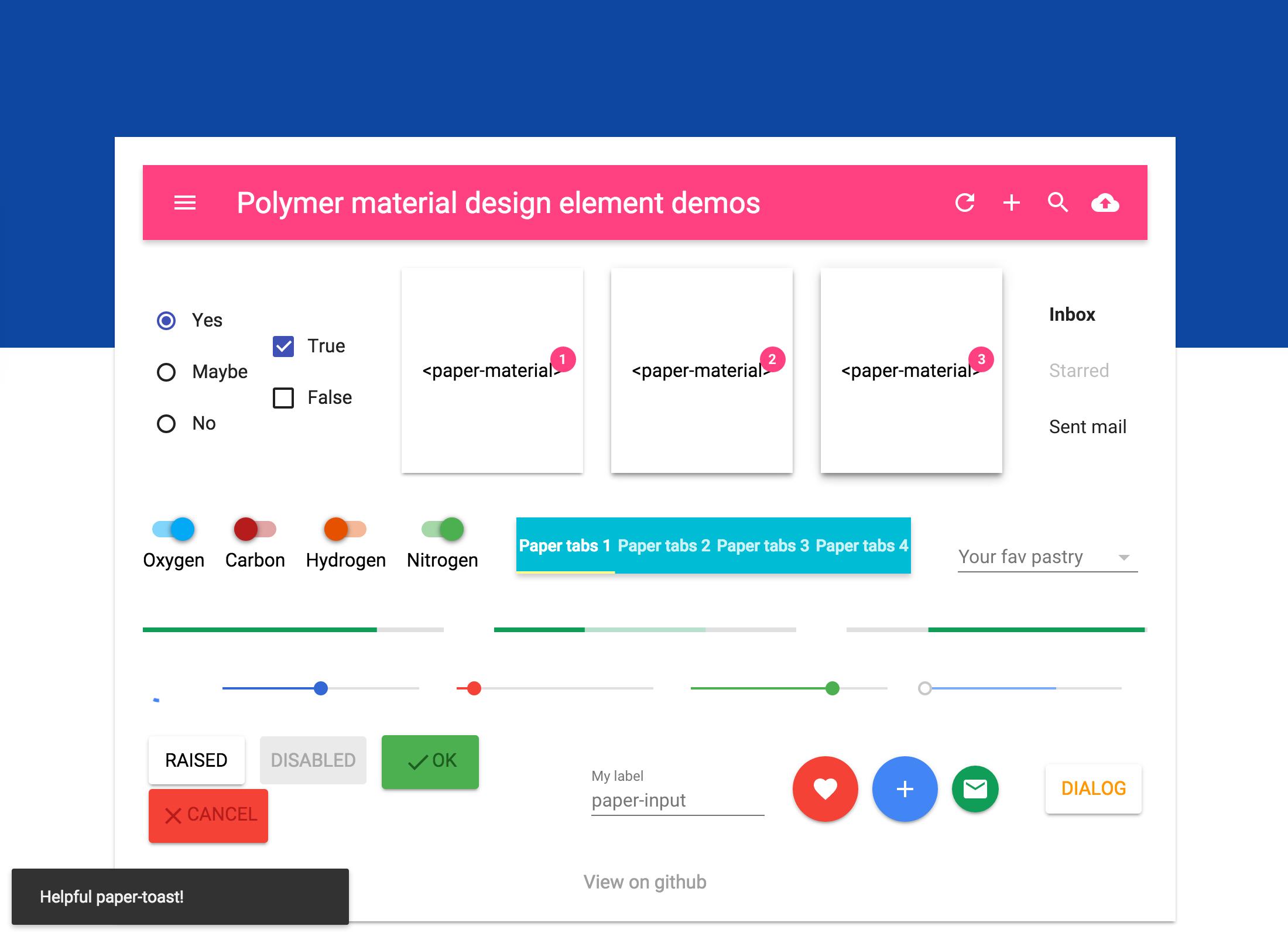 Material Design Calendar Github : Github ebidel material playground polymer
