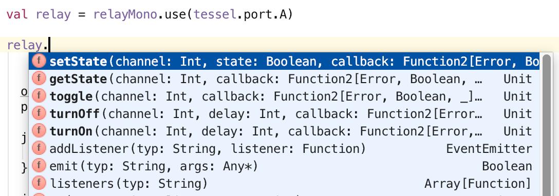Code completion in IntelliJ