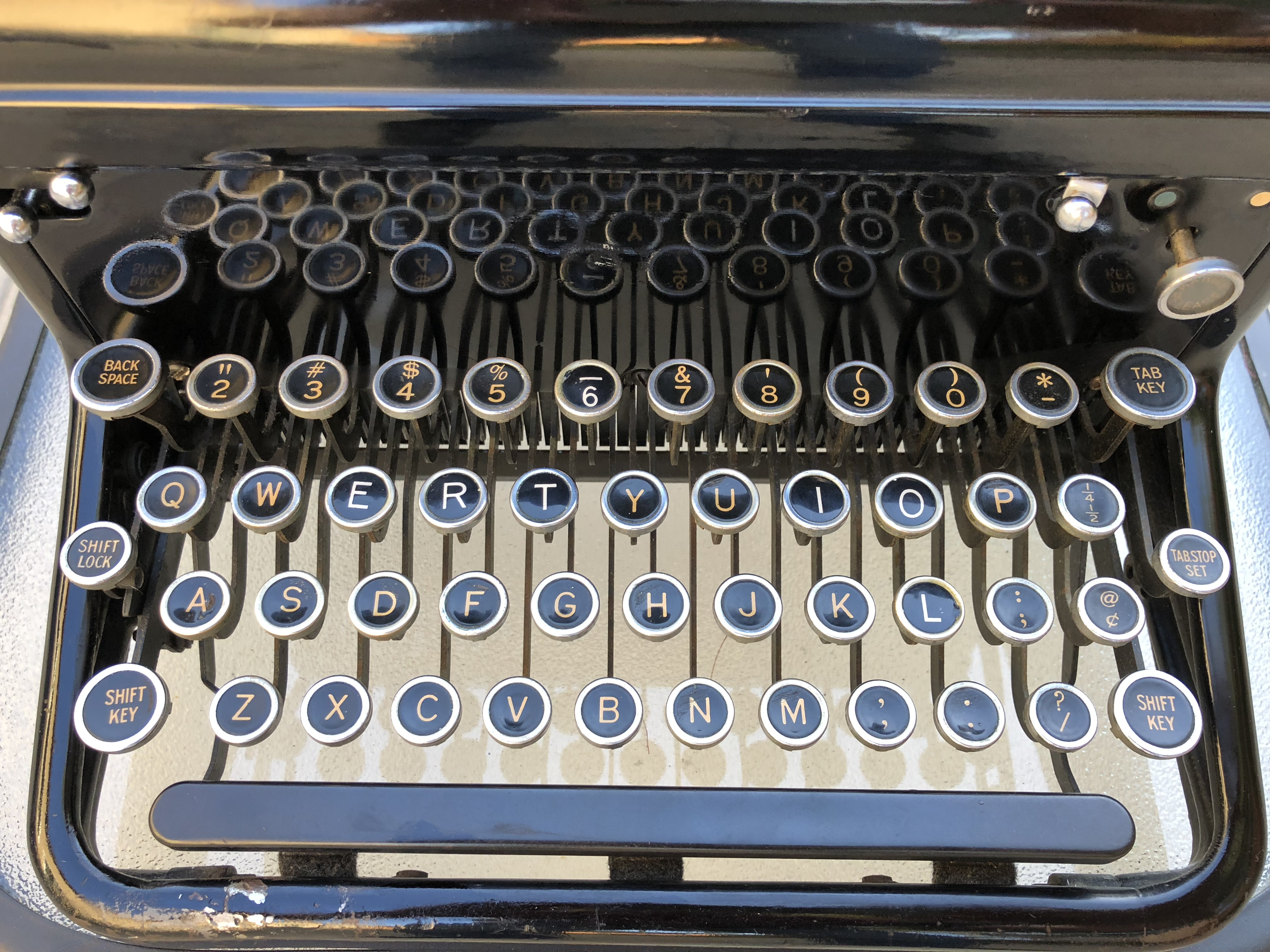 The keyboard with replaced keys