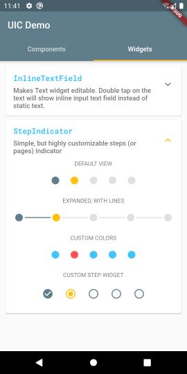 StepIndicator Examples