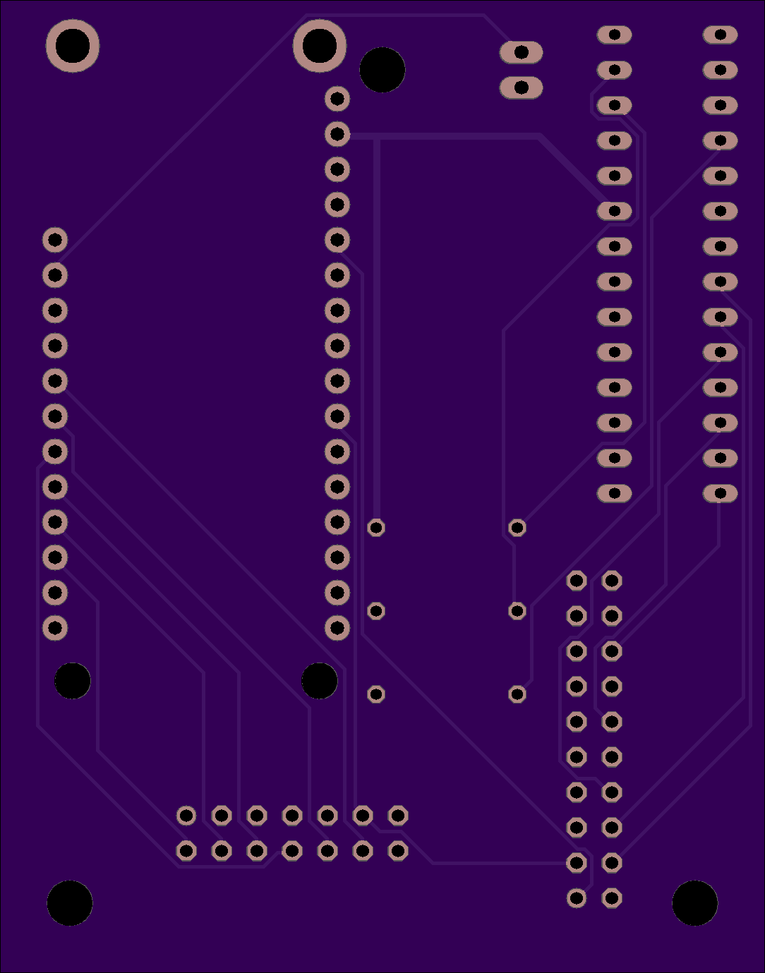 Center PCB Rev 002 Bottom