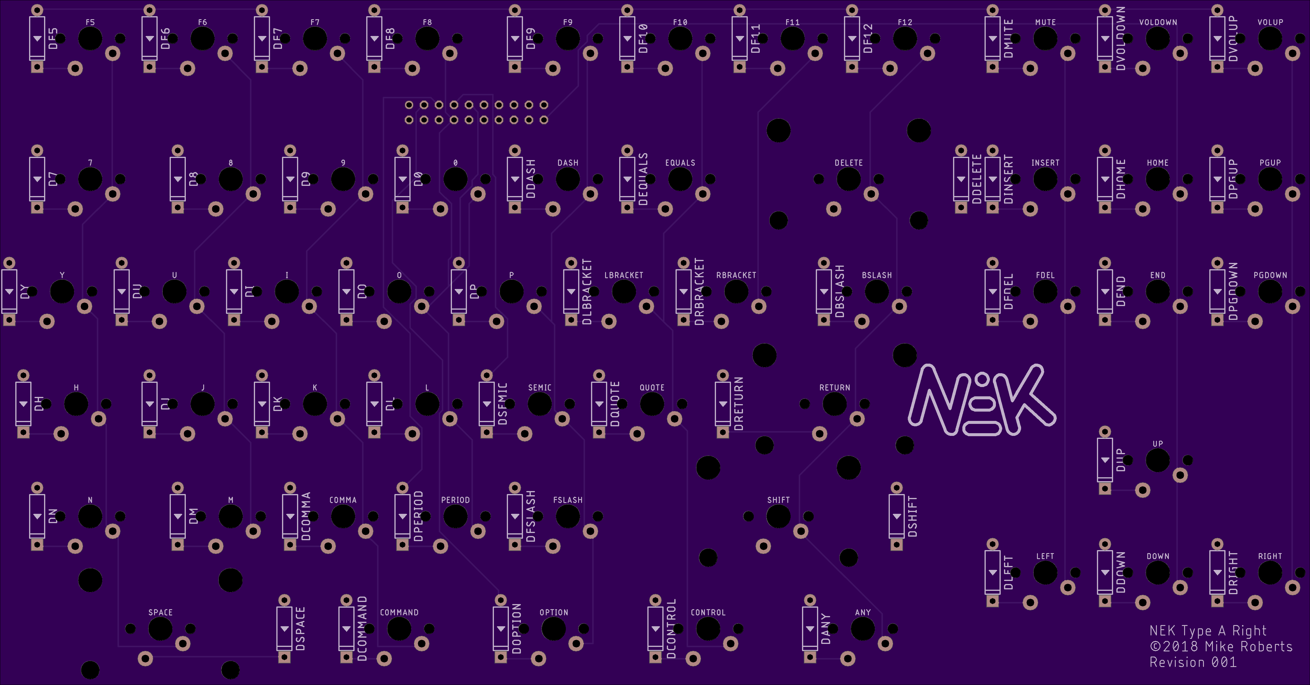 Right PCB Rev 001 Top