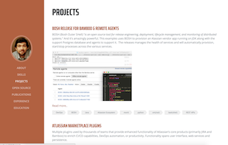 List featured projects