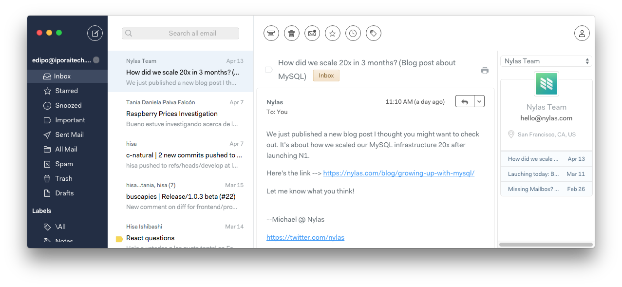 lifestyle] Minimalist mail client for windows : minimalism