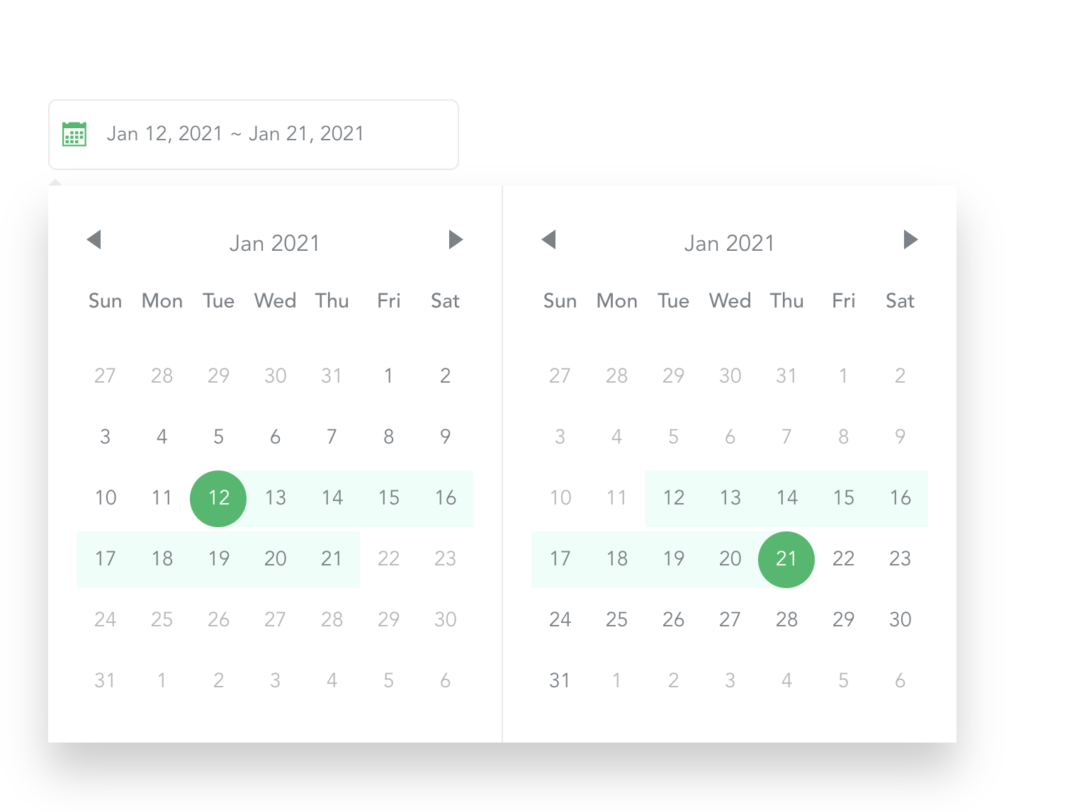 datepicker component