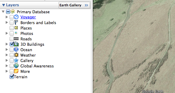Using terrain and 3D buildings in Google Earth