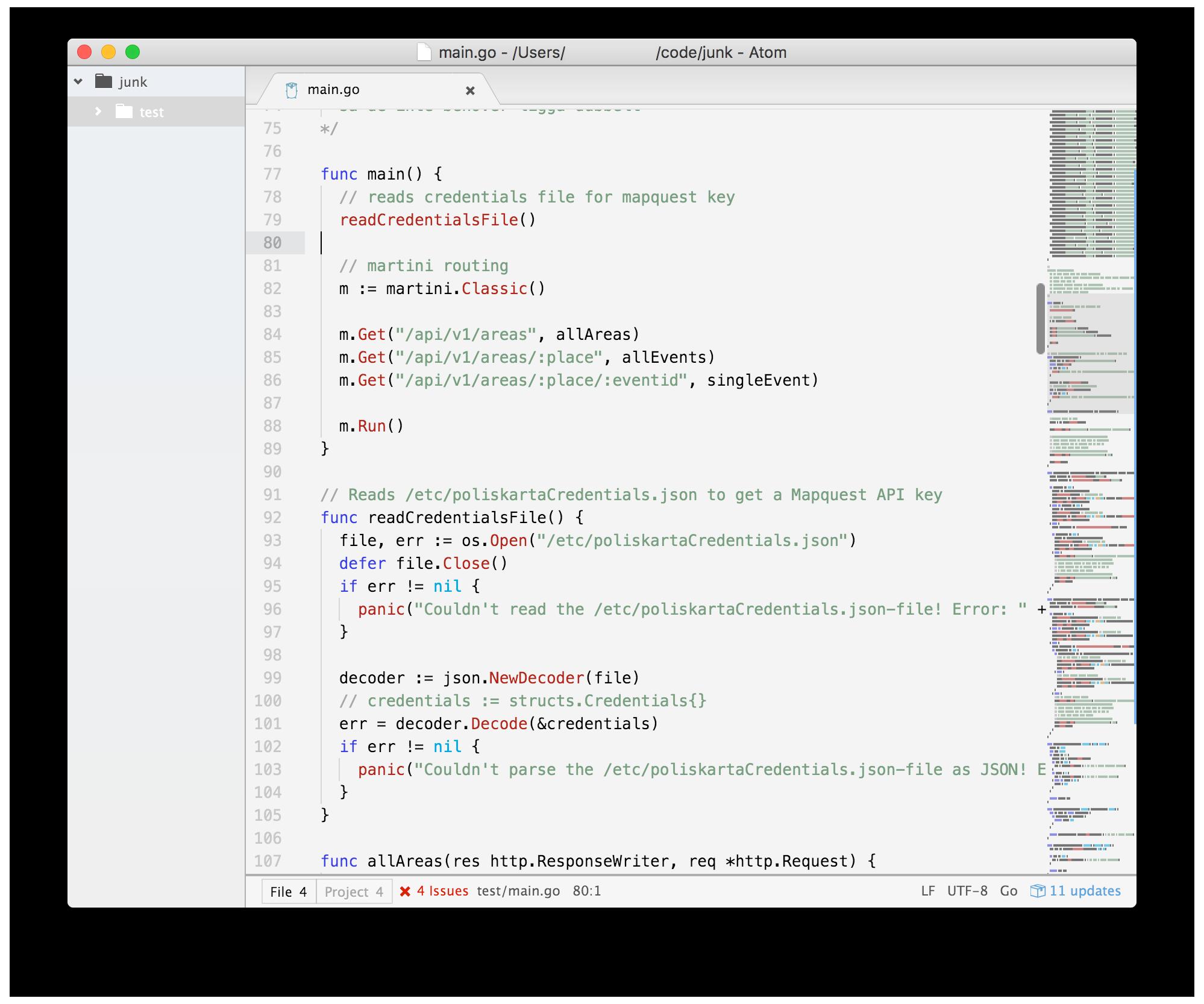 A screenshot of the theme
