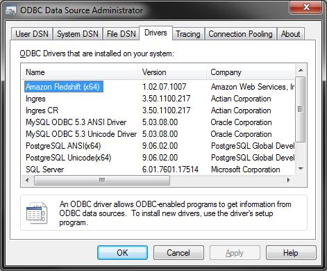 ODBC drivers