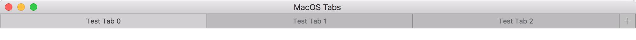 MacOS Tabs