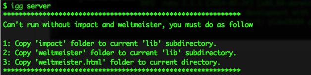 run server error usage